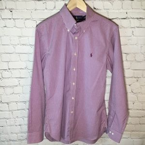 RALPH LAUREN LONG SLEEVE BUTTON DOWN SLIM FIT